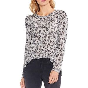 Vince Camuto Gray Rose Long Sleeve